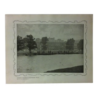 """1906 """"Pleasure Grounds of Buckingham Palace"""" Famous View of London Print For Sale"""