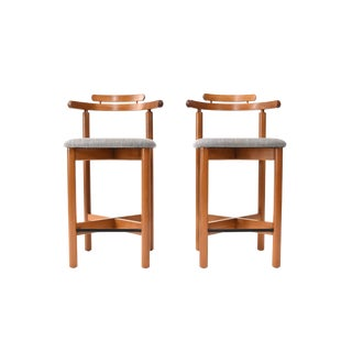 Mid-Century Danish Modern Bar Stools by Gangso Møbler - a Pair For Sale