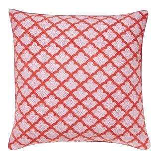 Roberta Roller Rabbit Jemina Red Pillow Cover For Sale