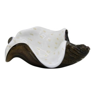 Mid-Century Murano Glass Conch Shell Bowl For Sale