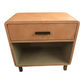 Dante Aged Leather Nightstand