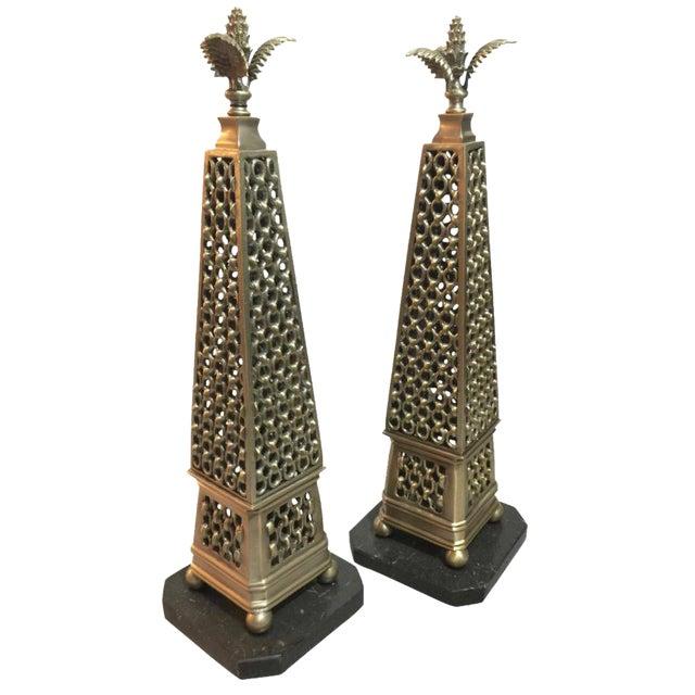 John Richard Metal Obelisks - a Pair - Image 1 of 5