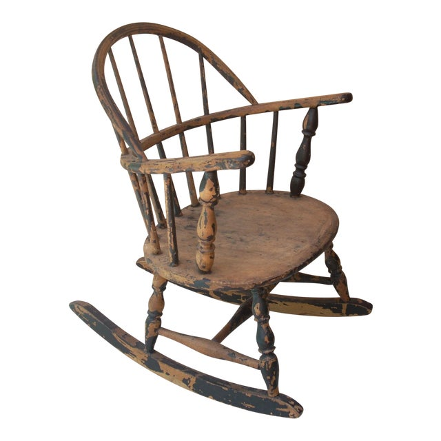 Windsor Child's Rocking Chair For Sale