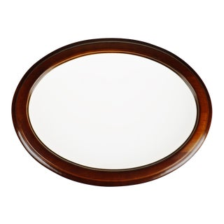 Vintage Convex Glass Oval Picture Frame For Sale