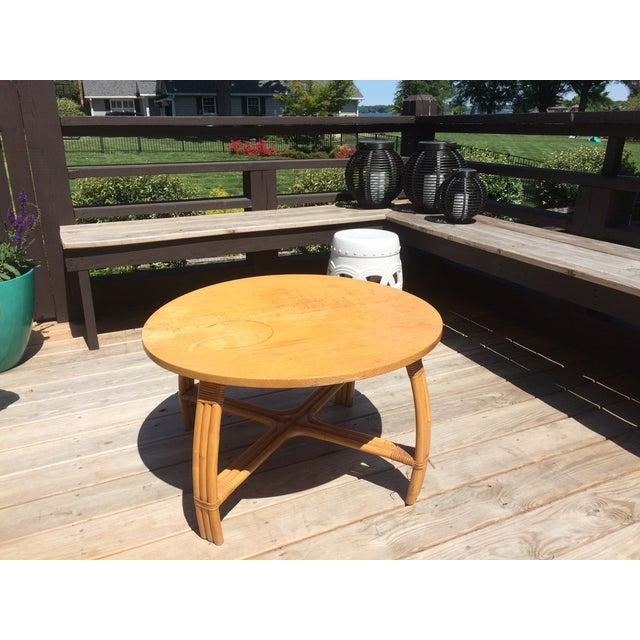 Mid-Century Rattan Coffee Table - Image 2 of 3