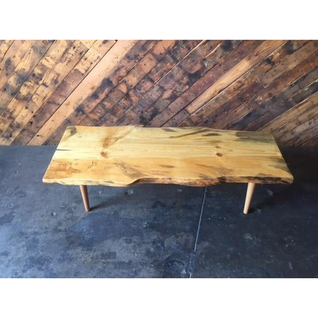 Best Finish For Live Edge Coffee Table: Live Edge Northern California Pine Coffee Table