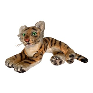 1950s Tiger With Glowing Eyes by Steiff For Sale