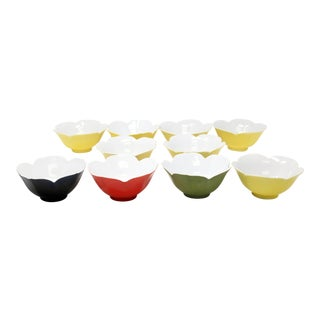 Vintage 1970's Lotus Bowls - Set of 10 For Sale