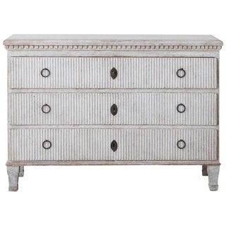 19th Century Swedish Gustavian Painted Commode For Sale