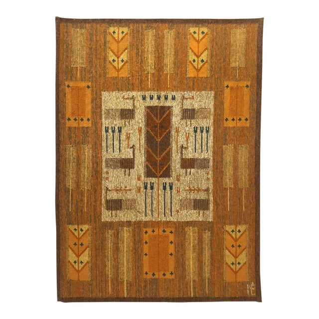 1960s Wall Hung Tapestry - 3′6″ × 4′11″ For Sale