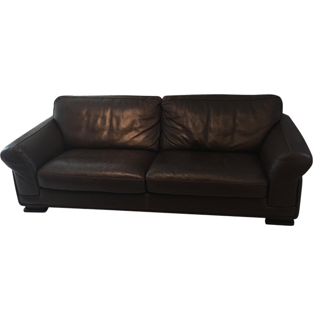 Roche Bobois Leather Sofa - Image 1 of 5