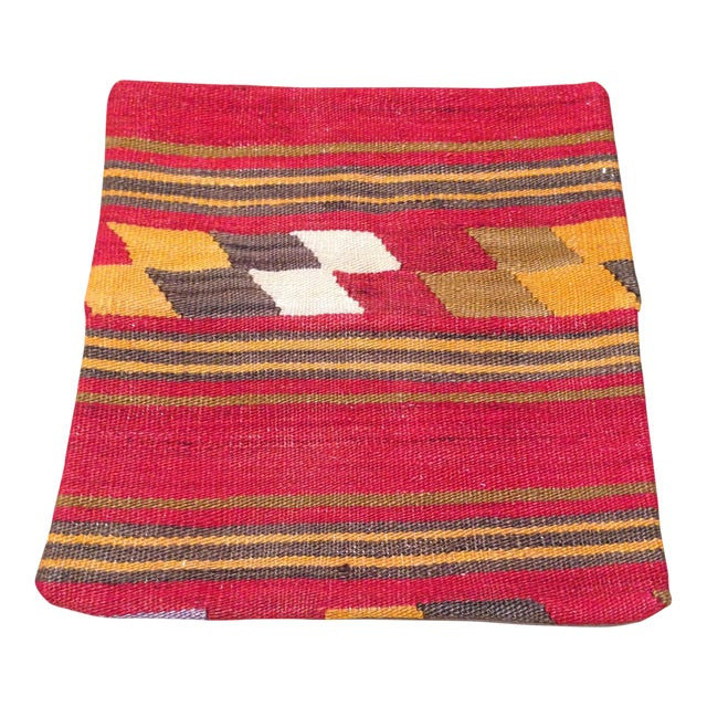 Vintage Kilim Pillow in Red & Gold - Image 1 of 4
