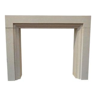 Modern Limestone Mantel For Sale