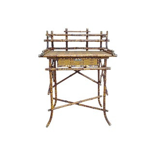 19th Century Asian Bamboo & Cane Writing Desk For Sale