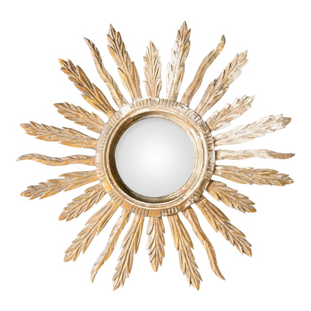 Image of Antique French Provincial Giltwood Sunburst Mirror