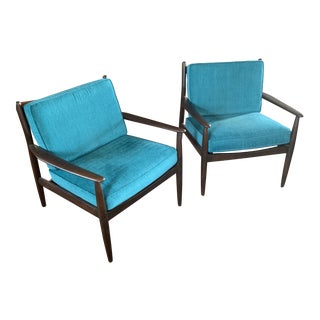 Mid Century Arm Chairs- A Pair For Sale