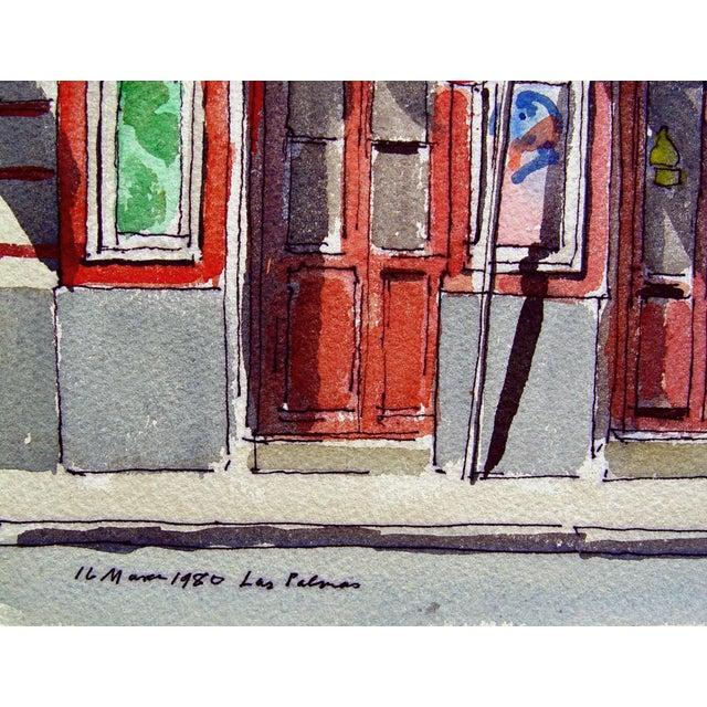 "Paul Parker ""Las Palmas"" Watercolor Painting - Image 2 of 3"