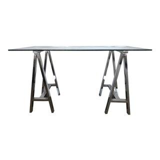 West Elm Cross Base Desk For Sale