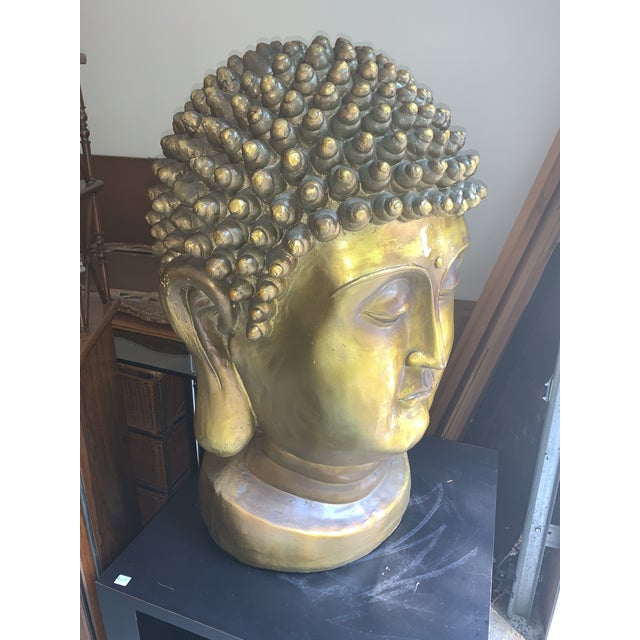 Asian Early 20th Century Buddha Head For Sale - Image 3 of 6