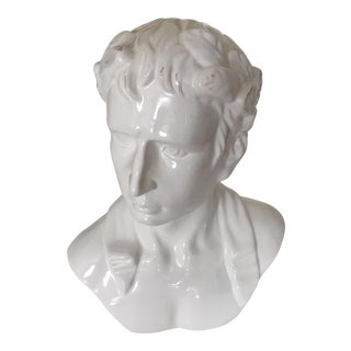 Neoclassical Ceramic Bust of Caesar