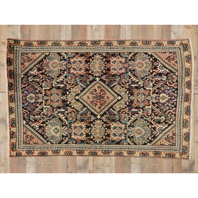 Vintage Mid-Century Persian Mahal Rug - 4′1″ × 6′7″ For Sale - Image 4 of 8