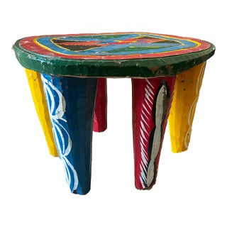 "African Old Nupe Stool Nigeria 11.5"" H For Sale"