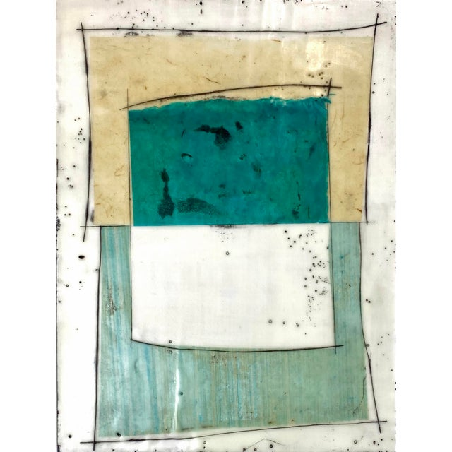 """""""Notes to My Younger Self"""" 9 Panels Encaustic Collage Installation by Gina Cochran For Sale - Image 4 of 13"""