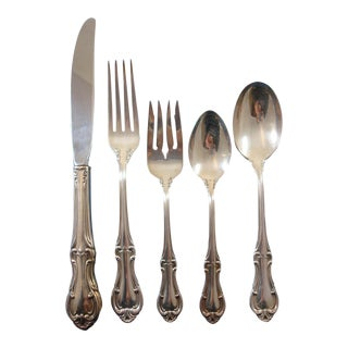 Joan of Arc by International Sterling Silver Flatware Place Size Set 60 Pieces For Sale