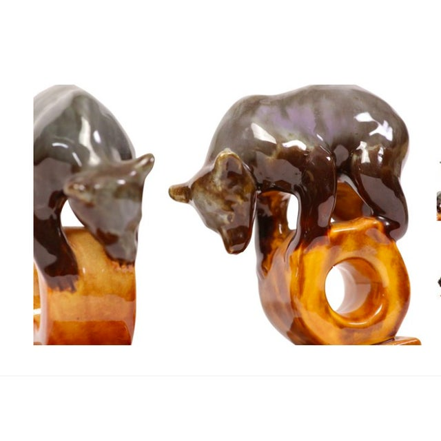 Art Pottery Circus Bear Bookends - A Pair - Image 3 of 4