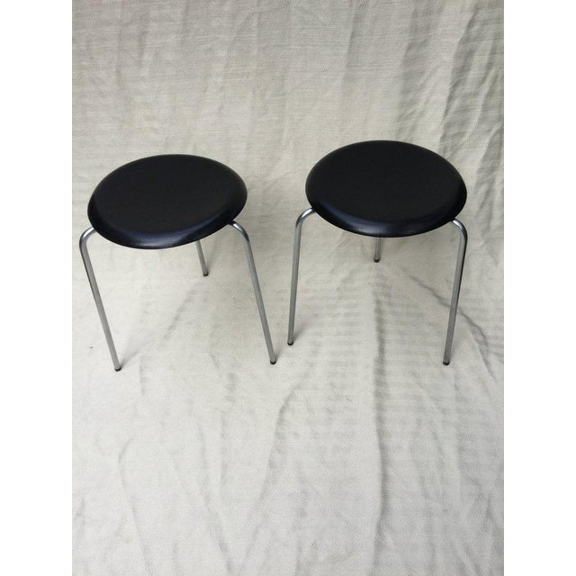Mid-Century Modern Arne Jacobsen 3 Leg Stools For Sale - Image 3 of 3