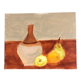 Original Contemporary Impressionist Still Life With Fruit Painting For Sale