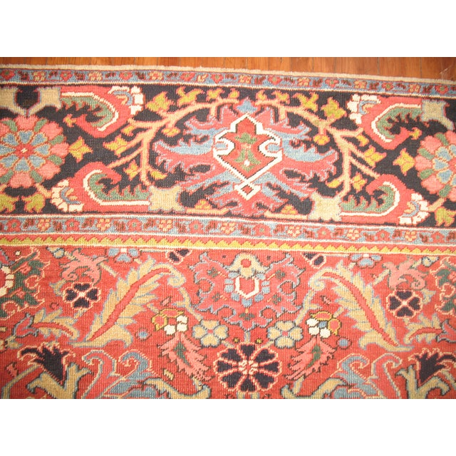 Antique Persian Heriz Rug - 8′4″ × 10′11″ - Image 9 of 11