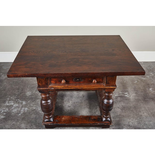 Mid 18th Century 18th Century Danish Baroque Table With Turned Legs For Sale - Image 5 of 10