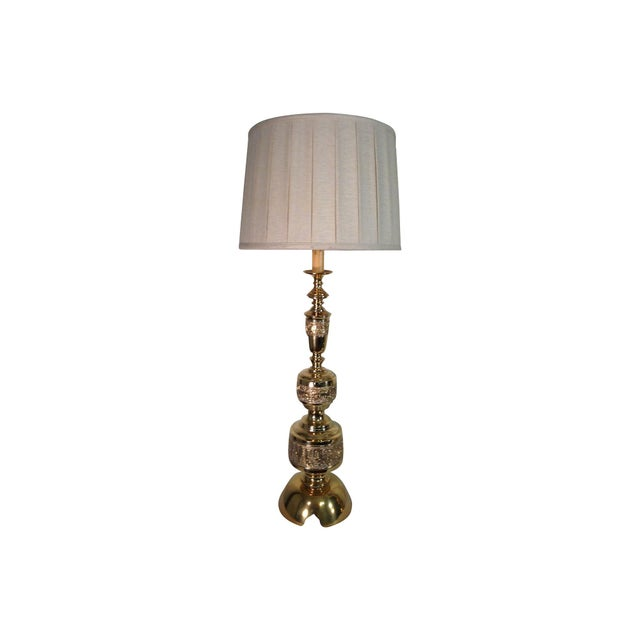 1960s James Mont Solid Brass Lamps - Pair For Sale - Image 5 of 6