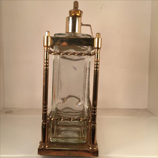Bourbon Scotch Rye Bar Caddy Liquor Decanters - Image 3 of 6