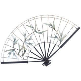 Curtis Jere Vintage 1987 Bamboo Fan Wall Art For Sale