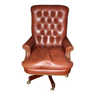 Hickory Chair Executive Tufted Swivel Chair