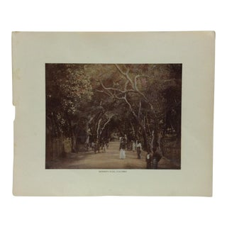"Antique Glimpses of India Print, ""Skinner's Road - Colombo"", Circa 1890 For Sale"
