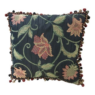 Late 20th Century Tapestry Shantung Satin Throw Pillow For Sale