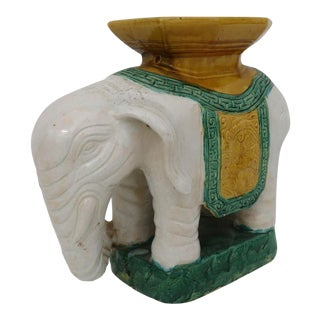 Elephant Pottery Garden Stool