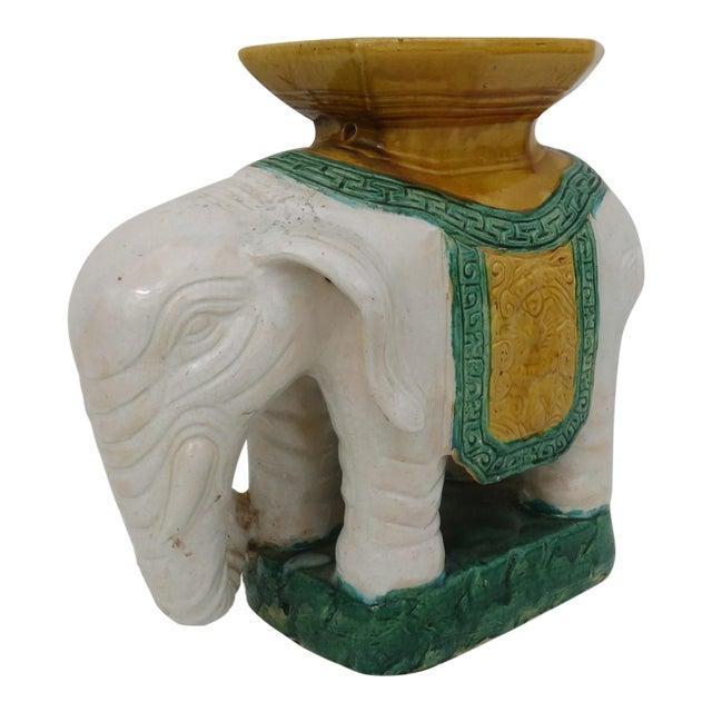 Elephant Pottery Garden Stool For Sale