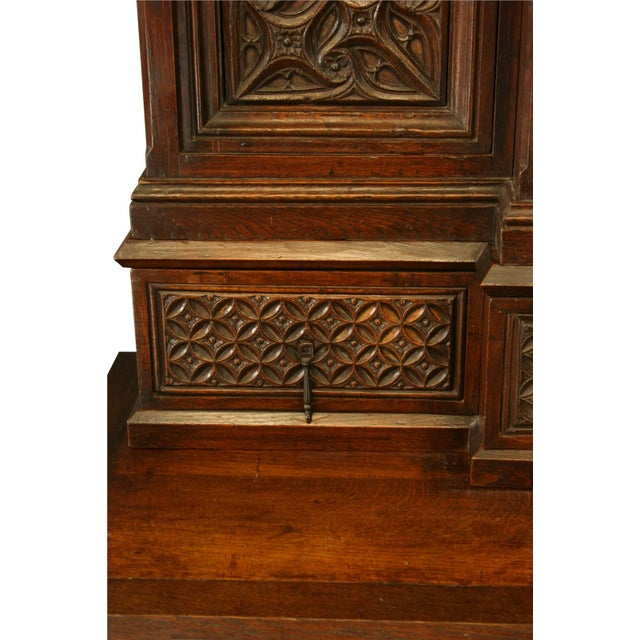 Heavily Carved Antique French Gothic Desk - Image 7 of 8