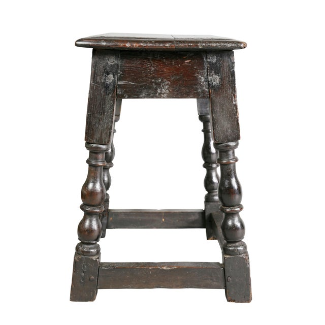 Jacobean Oak Joint Stool For Sale In Boston - Image 6 of 10