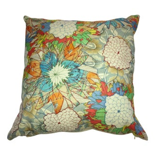 Throw Pillows With Flowery Bunches - A Pair For Sale