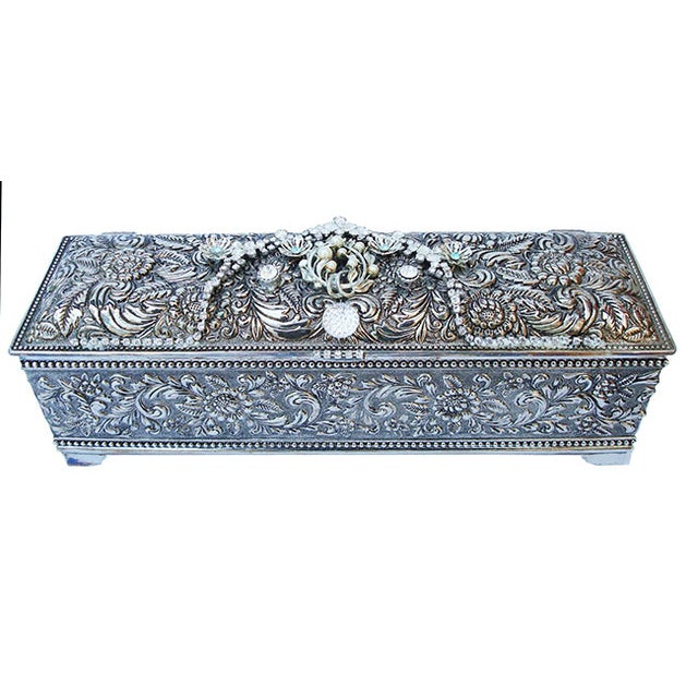 Bejeweled Vintage Keepsake Box - Image 2 of 8