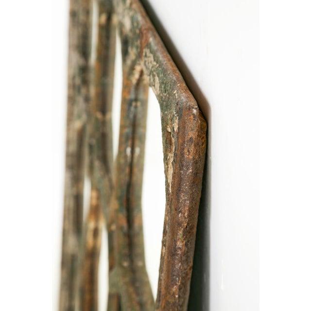 Cast Iron Mid 19th Century Antique Cast Iron Geometric Mirror For Sale - Image 7 of 7