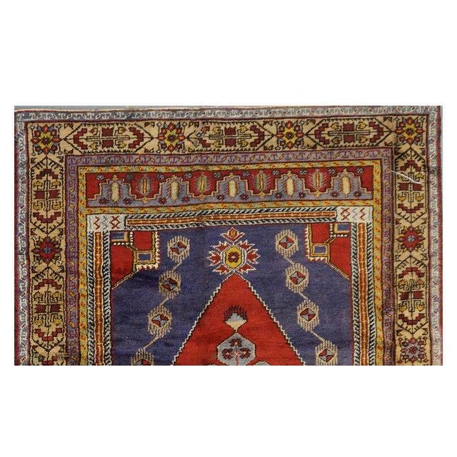 Islamic Vintage Turkish Oushak Rug - 4'10'' x 9'11'' For Sale - Image 3 of 4