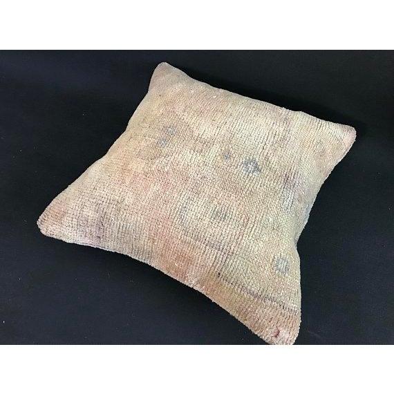 1960s Art Nouveau Handwoven Oushak Wool Pillow Case For Sale - Image 9 of 10