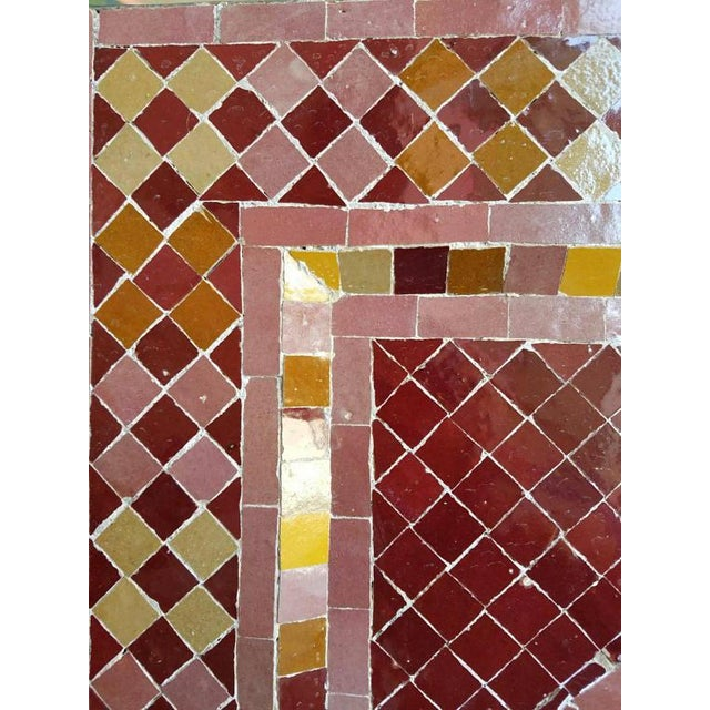 Moroccan Burgundy Multicolor Tile Fountain For Sale - Image 5 of 6
