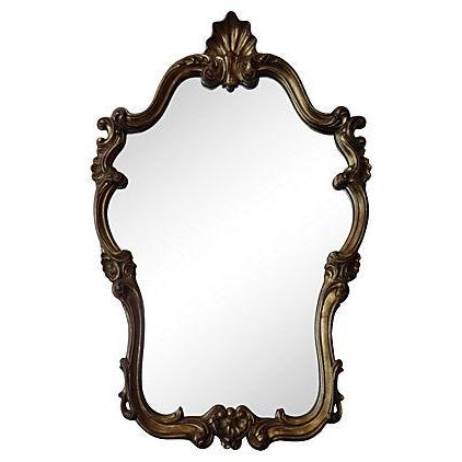 Shell Motif Gilded Gold Mirror For Sale